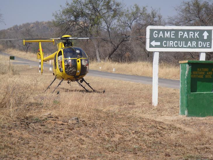 helicopter used in rhino operations
